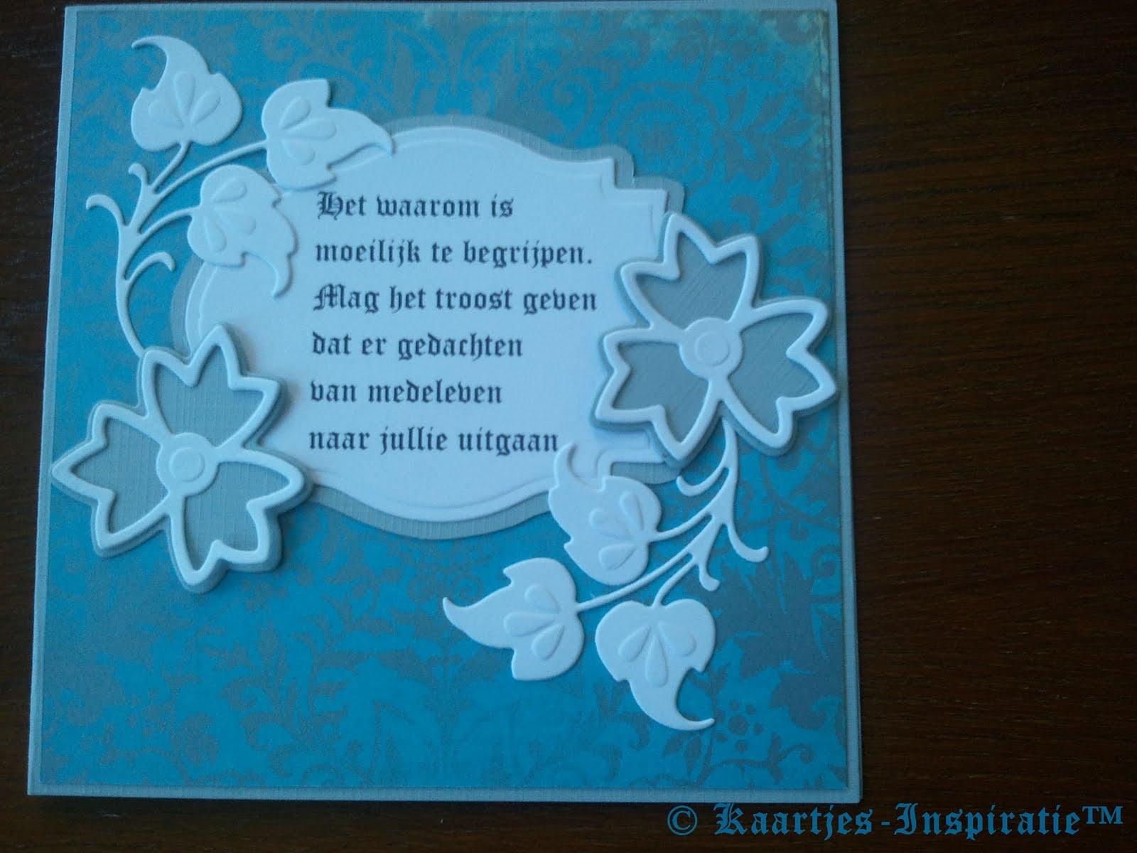 Condoleance teksten of tekst voor rouwkaart