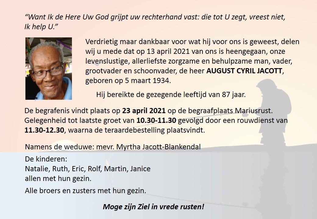 AUGUST  CYRIL JACOTT