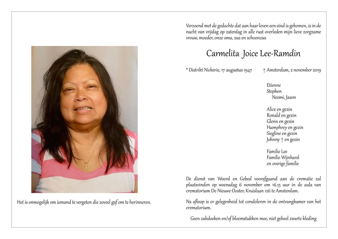 Carmelita Joice Lee-Ramdin