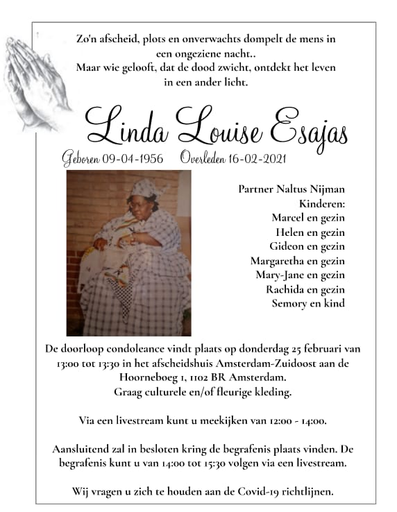Linda Louise  Esajas